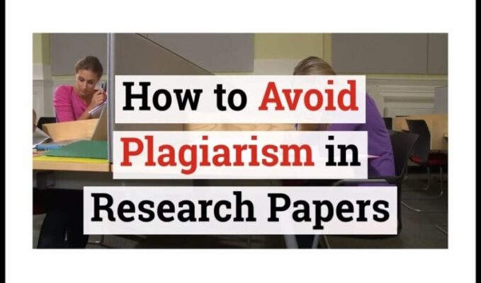 avoiding plagiarism in your research paper