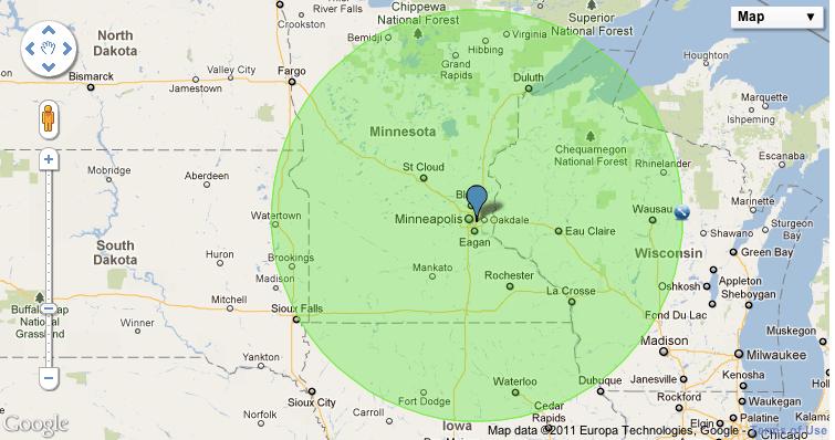 Radius Map