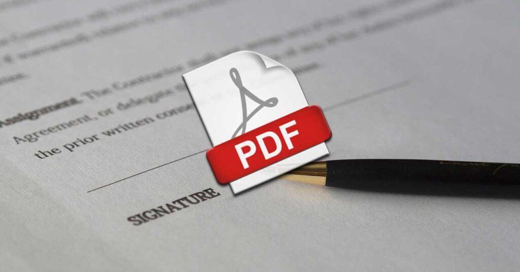 signature in a PDF Document